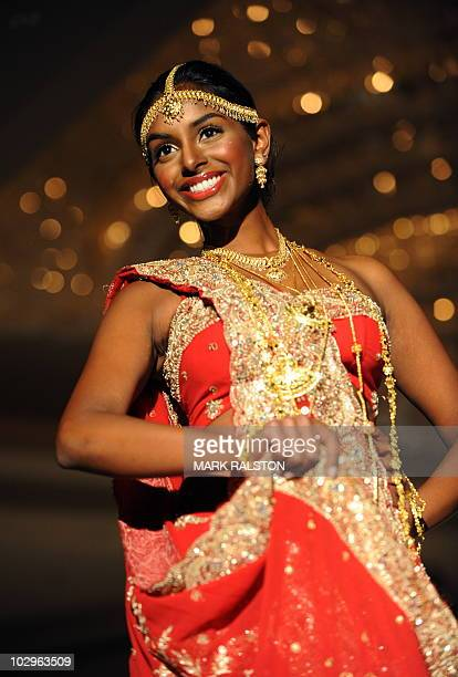 Sarah Makandura representing Sri Lanka during the 22nd Annual Miss Asia USA beauty pageant preview event and fashion show in Los Angeles on July 18...