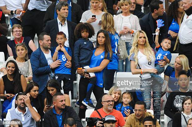 Sarah Mandanda and Ludivine Payet during the UEFA EURO 2016 Group A match between France and Albania at Stade Velodrome on June 15 2016 in Marseille...