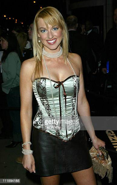 Sarah Manners during Gizmondo MultiMedia Handheld Launch Party Arrivals at Park Lane Hotel in London United Kingdom