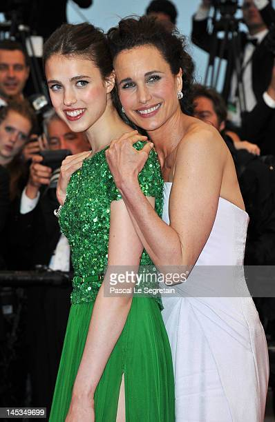 Sarah Margaret Qualley and Andie MacDowell attend the Closing Ceremony and 'Therese Desqueyroux' premiere during the 65th Annual Cannes Film...