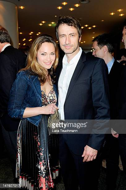 Sarah Maria Besgen and Guido Broscheit attend the 'Liberty Award 2012' at Hotel Hyatt on on March 26 2012 in Berlin Germany