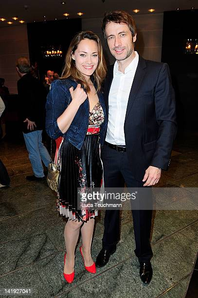 Sarah Maria Besgen and Guido Broscheit attend the 'Liberty Award 2012' at Hotel Hyatt on on March 26, 2012 in Berlin, Germany.