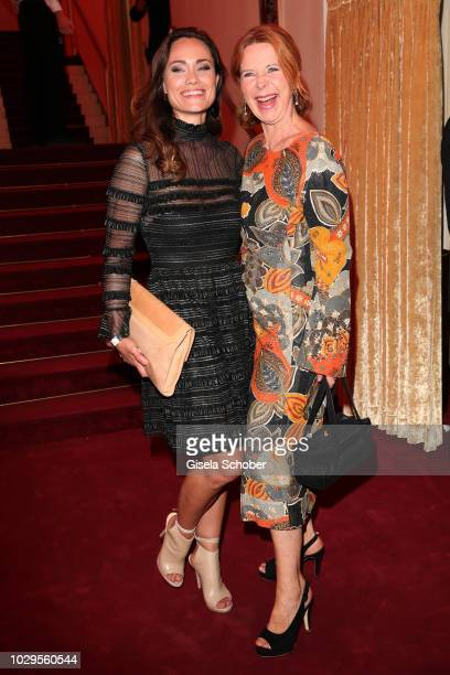 Sarah Maria Besgen and Marion Kracht during the 100th bitrhday celebration gala for Artur Brauner at Zoo Palast on September 8 2018 in Berlin Germany...