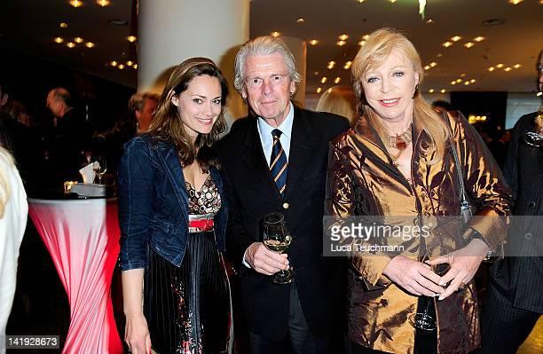 Sarah Maria Besgen Klaus Bresser and Evelyn Bresser attend the 'Liberty Award 2012' at Hotel Hyatt on March 26 2012 in Berlin Germany