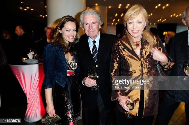Sarah Maria Besgen, Klaus Bresser and Evelyn Bresser attend the 'Liberty Award 2012' at Hotel Hyatt on March 26, 2012 in Berlin, Germany.