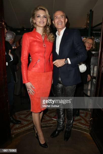 Sarah Marshall and Jean Claude Jitrois attend the La Closerie Des Lilas Literary Awards 2013 7th Edition at La Closerie Des Lilas on April 9 2013 in...