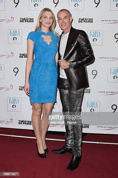 Sarah Marshall and Jean Claude Jitrois attend the Lara Fabian concert at Theatre de Paris on April 15, 2013 in Paris, France.