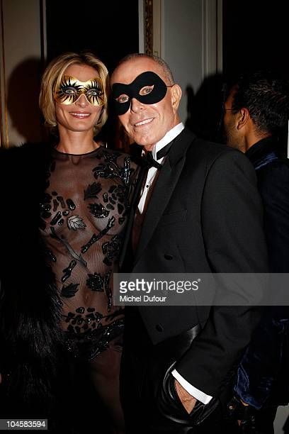 Sarah Marshall and Jean Claude Jitrois attend Vogue 90th Anniversary Party as part of Ready to Wear Spring/Summer 2011 Paris Fashion Week at Hotel...