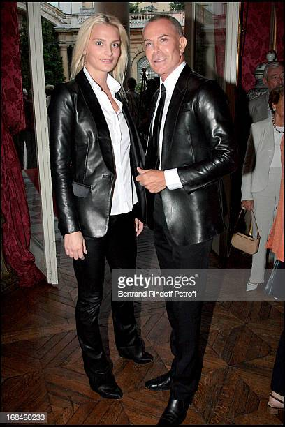 Sarah Marshall and JeanClaude Jitrois at Opening Exhibition Of Joy De Rohan Chabot Les Jardins Immobiles At Musee Jacquemart Andre In Paris