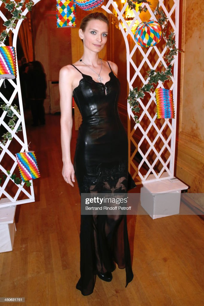Sarah Marshall attends 'Les Puits du Desert' Charity Gala at Cercle des Armees on November 19, 2013 in Paris, France.