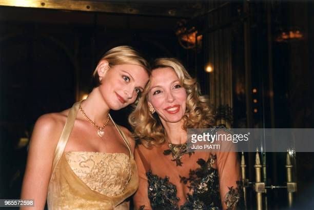 Sarah Marshall et sa mère Sylvie Elias le 27 mars 1999 à Deauville France