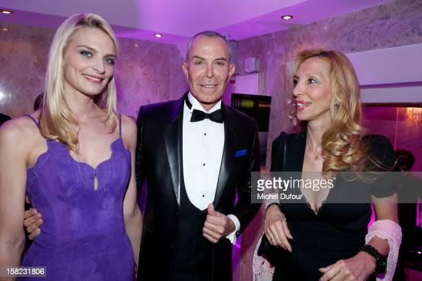 Sarah Marshall Jean Claude Jitrois and Sylvie Elias attend the The Bests Awards 2012 Ceremony at salons hoche on December 11 2012 in Paris France