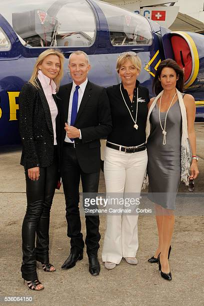 Sarah Marshall Jean Claude Jitrois Rejane Lacoste and Astrid Veillon attend the Breitling lunch during the 48th Paris Air Show held at Paris Le...