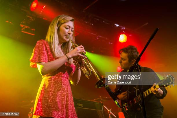 Sarah Martin and Joshua Burnside perform onstage at the NI Music Awards at Mandela Hall on November 11 2017 in Belfast Northern Ireland