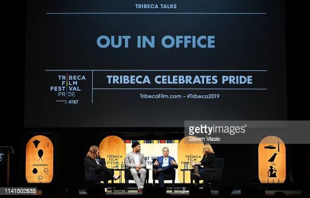 Sarah McBride House Rep Malcolm Kenyatta House Rep David Cicilline and moderator Allison VanKuiken attend Out in Office panel at Tribeca Celebrates...