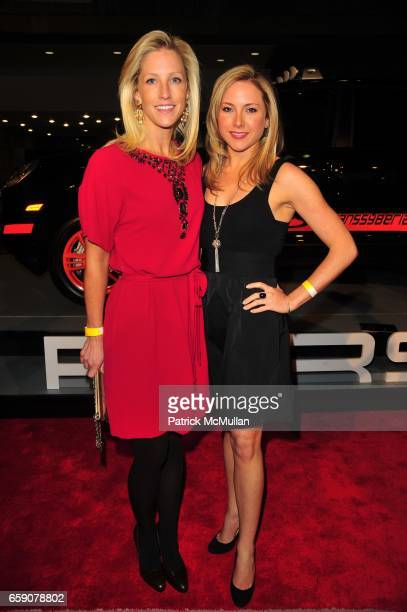 Sarah McClure and Jessica Bangs attend PORSCHE hosts EAST SIDE HOUSE SETTLEMENT gala preview of the 2009 New York International Auto Show at Jacob...