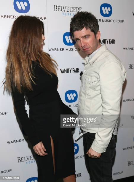 Sarah McDonald and Noel Gallagher attend The Warner Music Group And Belvedere Brit Awards After Party In Association With Vanity Fair at The Savoy...
