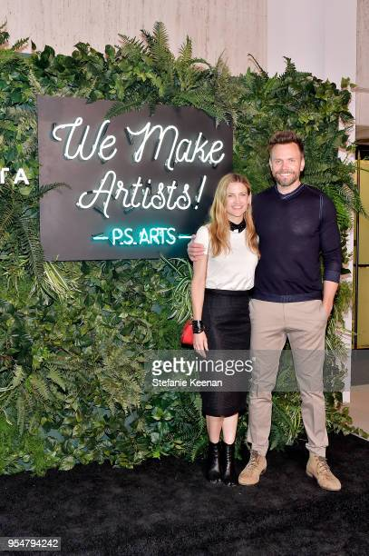 Sarah McHale and Joel McHale attend PS ARTS' the pARTy 2018 at Marciano Art Foundation on May 4 2018 in Los Angeles California