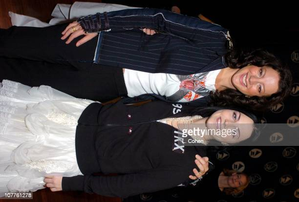 Sarah McLachlan and Amy Lee of Evanescence during 46th Grammy Awards Nominations Green Room at Beverly Hilton in Beverly Hills California United...