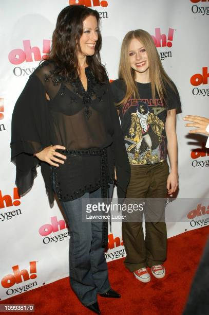 Sarah McLachlan and Avril Lavigne during Sarah Mclachlan Oxygen Custom Concert Featuring Avril Lavigne at The Supper Club in New York City New York...