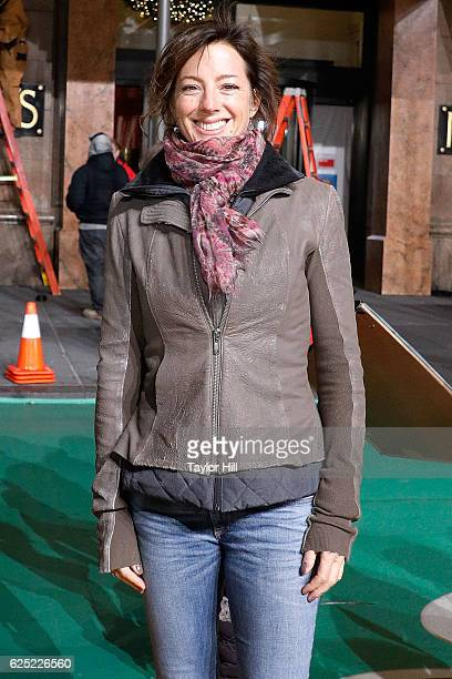 Sarah McLachlan attends Macy's Thanksgiving Day Parade rehearsals at Macy's Herald Square on November 22 2016 in New York City