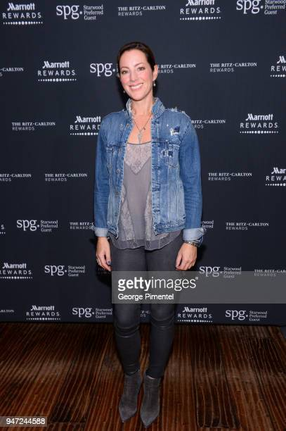 Sarah McLachlan attends the celebration of Marriott International's announcement of their Unified Loyalty Program on April 16 2018 in Toronto Canada