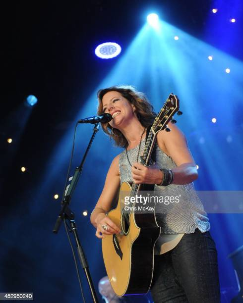 Sarah McLachlan performs at Chastain Park Amphitheater on July 30 2014 in Atlanta Georgia