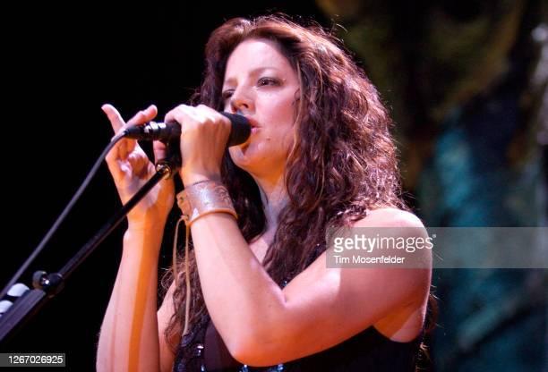 Sarah McLachlan performs at HP Pavilion on July 9, 2004 in San Jose, California.