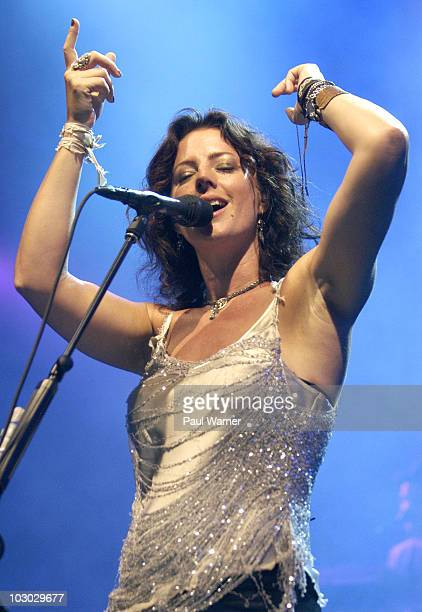 Sarah McLachlan performs at the 2010 Lilith Fair at DTE Energy Center on July 21, 2010 in Clarkston, Michigan.