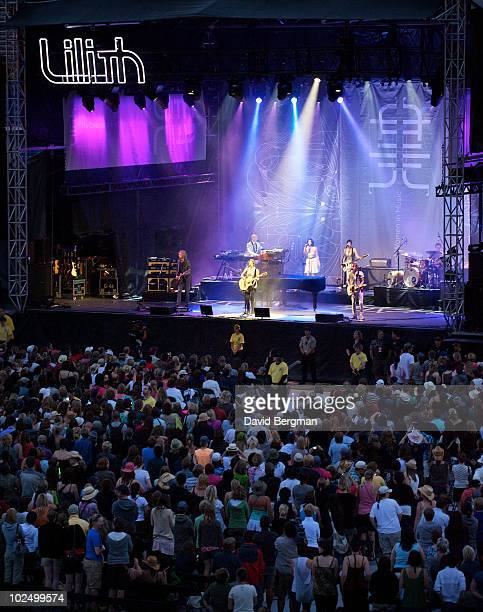 Sarah McLachlan performs at the 2010 Lilith Fair at McMahon Stadium on June 27, 2010 in Calgary, Canada.