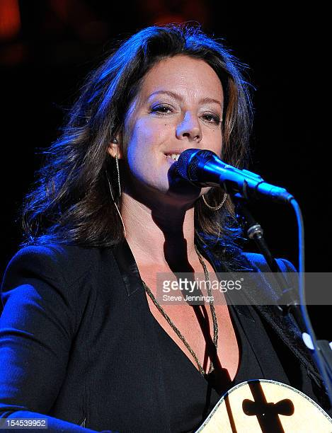 Sarah McLachlan performs at the 26th Annual Bridge School Benefit at Shoreline Amphitheatre on October 20, 2012 in Mountain View, California.
