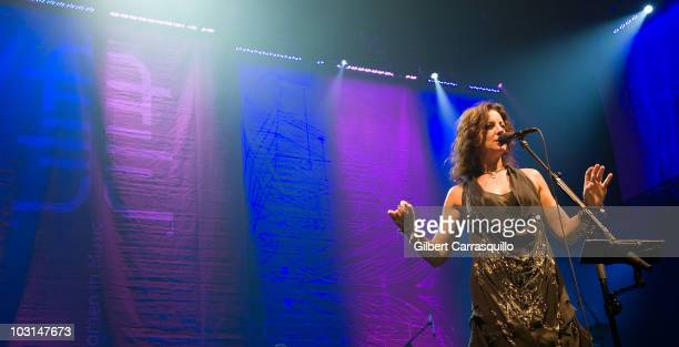 Sarah McLachlan performs during Lilith Fair at the Susquehanna Bank Center on July 28, 2010 in Camden, New Jersey.
