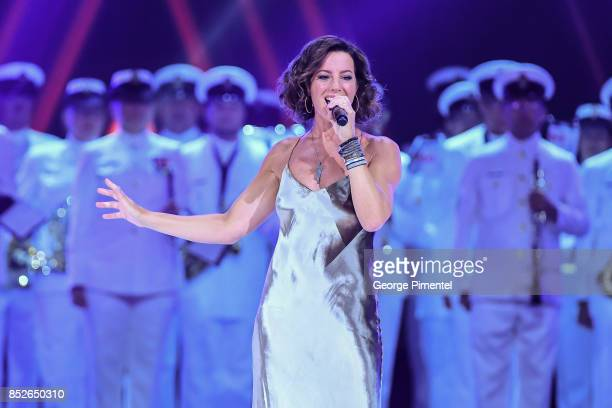 Sarah McLachlan performs during the opening ceremony of Invictus Games Toronto 2017 at Air Canada Centre on September 23 2017 in Toronto Canada