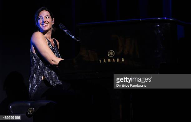 Sarah McLachlan performs on stage at the IWC Schaffhausen Third Annual 'For the Love of Cinema' Gala during the Tribeca Film Festival on April 16...