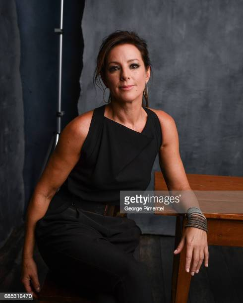 Sarah McLaclan poses at the 2017 Juno Awards Portrait Studio at the Canadian Tire Centre on April 1 2017 in Ottawa Canada