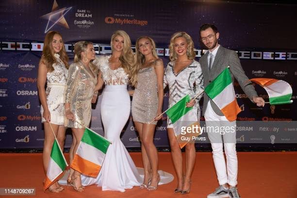 Sarah McTernan of Ireland arrives at the 64th annual Eurovision Song Contest held at Tel Aviv Fairgrounds on May 12 2019 in Tel Aviv Israel