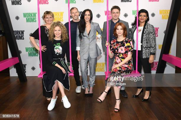 Sarah McVie Juno Rinaldi Philip Sternberg Catherine Reitman Ryan Belleville Dani Kind and Nelu Handa attend CBC Presents A Night Out With Workin Moms...