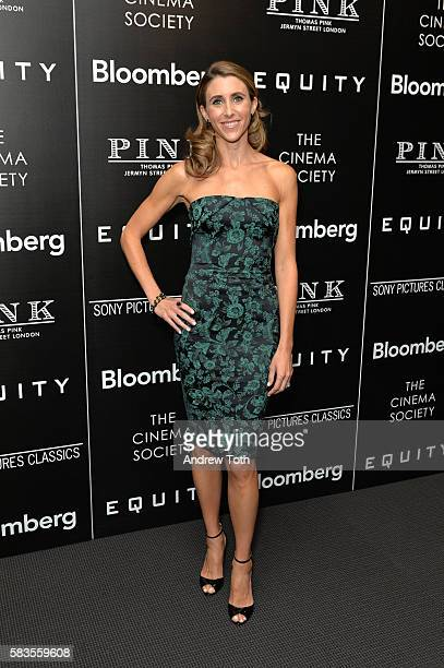 Sarah Megan Thomas attends a screening of Sony Pictures Classics' Equity hosted by The Cinema Society with Bloomberg and Thomas Pink on July 26 2016...