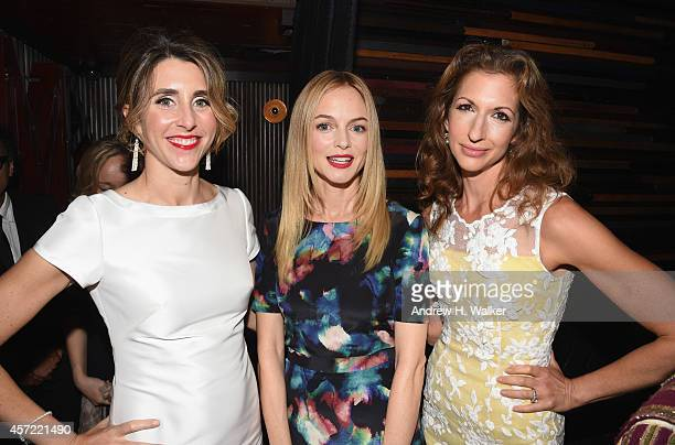 Sarah Megan Thomas Heather Graham and Alysia Reiner attend the Creative Coalition's spotlight awards dinner gala at Marquee on October 14 2014 in New...
