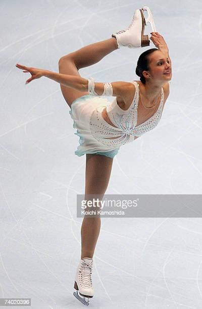 Sarah Meier of Switzerland performs during the women's Free Skating program at the Japan Open 2007 Figure Skating at the Saitama Super Arena on April...