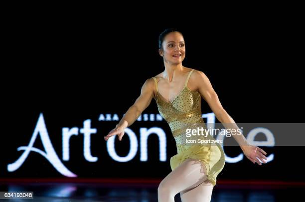 Sarah Meier skates during the Art on Ice show on February 7 at Malley Arena in Lausanne Switzerland