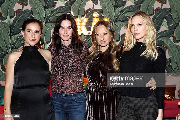 Sarah Meyer actress Courteney Cox designer Jennifer Meyer and writer Erin Foster attend ROE Caviar's 2016 Harvest at the private residence of Jonas...