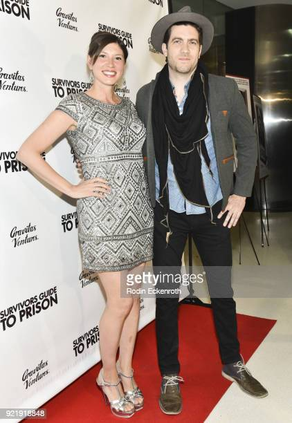 Sarah Michael Novia and Adam Croce attend the premiere of Gravitas Pictures' 'Survivors Guide To Prison' at The Landmark on February 20 2018 in Los...