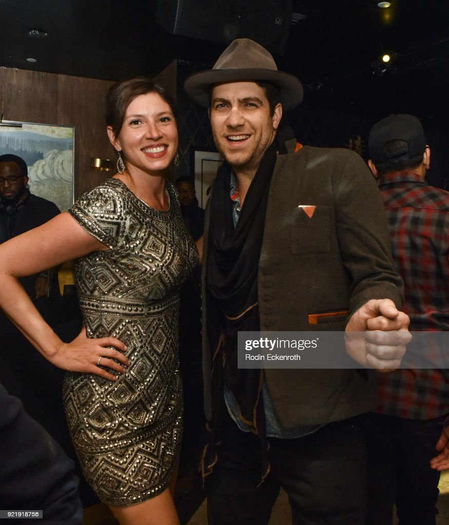 Sarah Michael Novia (L) and Adam Croce pose for portrait at the premiere of Gravitas Pictures' 'Survivors Guide To Prison' afterparty at Bootsy Bellows on February 20, 2018 in West Hollywood, California.
