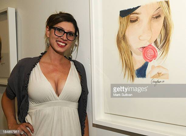 Sarah Michael Novia during the opening reception for Diane MarshallGreen's Lolitas at America Martin Gallery on October 27 2012 in Los Angeles...