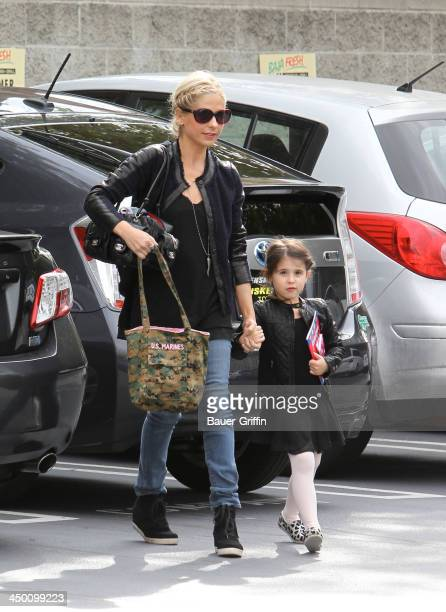 Sarah Michelle Gellar and daughter Charlotte Prinze are seen on November 16 2013 in Los Angeles California
