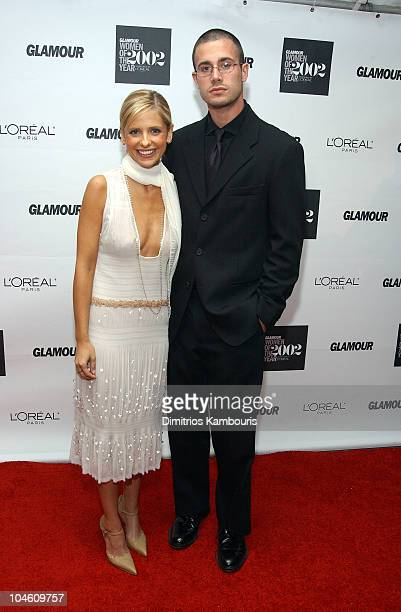 Sarah Michelle Gellar and Freddie Prinze Jr during 13th Annual Glamour Magazine's Women of the Year Awards Arrivals at Metropolitan Museum of Art in...