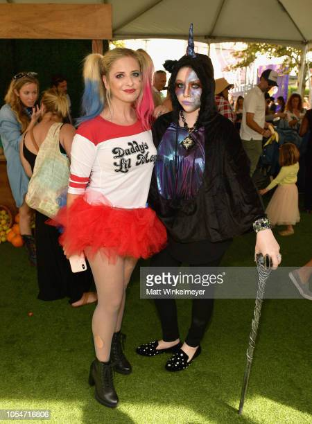Sarah Michelle Gellar and Michelle Trachtenberg attend the 2018 GOOD Foundation's 3rd Annual Halloween Bash presented by Delta Air Lines and Otter...