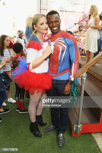 Sarah Michelle Gellar and Sean Patrick Thomas attend the 2018 GOOD Foundation's 3rd Annual Halloween Bash presented by Delta Air Lines and Otter Pops...