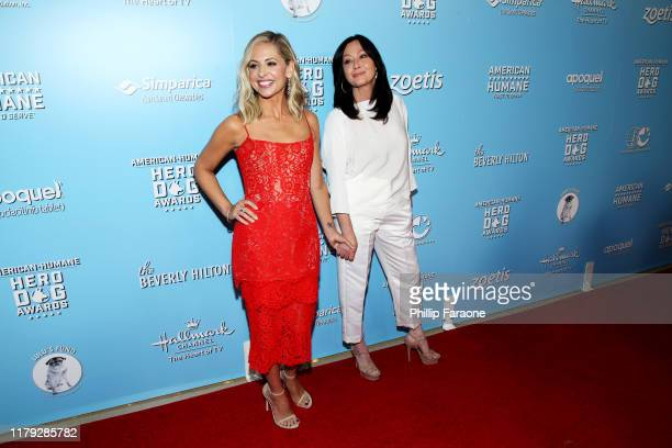 Sarah Michelle Gellar and Shannen Doherty attend the 9th Annual American Humane Hero Dog Awards at The Beverly Hilton Hotel on October 05 2019 in...